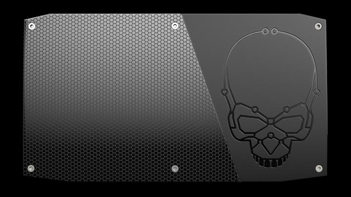 Górny panel może zaiwerać charakterystyczną czaszkę lub nie. Wybór należy do użytkownika.